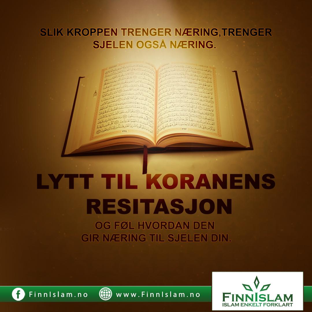 Lytt til Koranens resitasjon